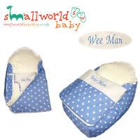 Personalised Boys Blue Star Baby Bean Bag Sleep Pod (NEXT DAY DISPATCH)