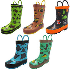 9135a5610849 Norty Waterproof Rubber Rain Boots for Kids - Boys   Girls - Toddlers ...
