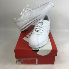NIB Mens 12 Nike Cortez Leather '06 All White Running Shoes Forest Gump '72 New