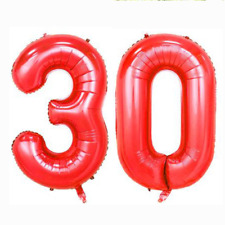 "40"" 30th Large Number Foil Helium Balloons Birthday Anniversary Party DIY Decor"