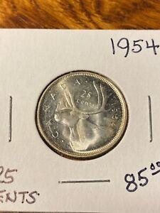 1954 CANADA 25 CENTS..CHOICE BU..