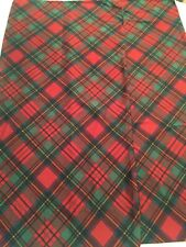 Rare RALPH LAUREN Destry Tartan Red Green Plaid  2 Sateen King Pillowcases NIOP