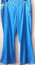 Women's Plus Scrub/Uniform/Medical Pants 3X Mary Engelbreit Turquoise New