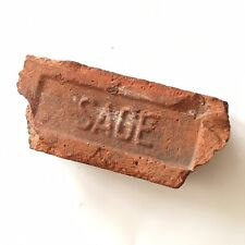 Antique Reclaimed Red Clay Brick SAGE New England Old Kiln RI Factory Mill Decor