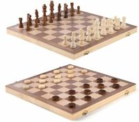 New Wooden Chess Set Magnetic Vintage International Chess Portable Board Chess