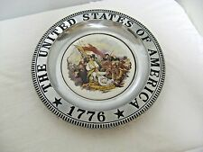 "10 1/2"" Porcelain & Metal Bunker's Hill Collector Plate or Wall hanging"