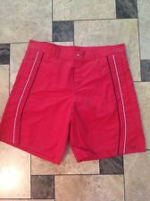 Versace Mens Red Swimsuit Trunks