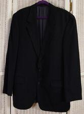 """DESCH Men's Pure Cashmere Jacket 47"""" Chest Classic Blazer Sports Coat Navy Blue"""