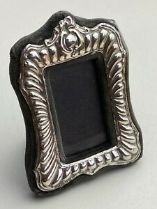 Small Solid Silver Patterned Picture Frame Available Worldwide