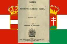 AUSTRIA-HUNGARY GUN ARTILLERY FUZES  WW1- RARE REFERENCE