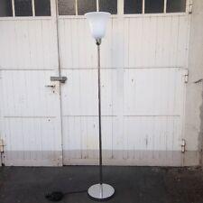Art-Deco Stehlampe - Stehleuchte Chrom - Silber - mit Textilkabel Zuleitung