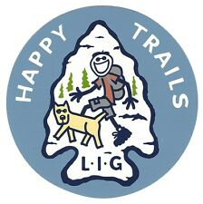 """NEW LIFE IS GOOD 4"""" STICKER/DECAL...HAPPY TRAILS!!"""