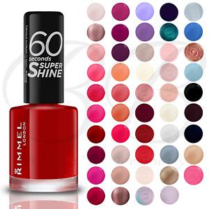 RIMMEL 60 SECONDS Nail Polish / Varnish 8ml Super Shine *CHOOSE YOUR SHADE*