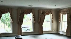Velvet Curtains Swags and Tails Full block out.