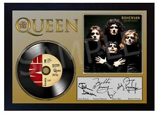 NEW! QUEEN Freddie Mercury MUSIC BOHEMIAN RHAPSODY SIGNED FRAMED PHOTO LP Vinyl