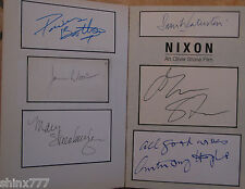 Nixon book signed by Oliver Stone,Anthony Hopkins, John Williams,James Woods+mor