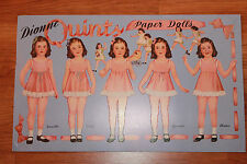 RARE Vintage Reproduction DIONNE QUINTS Paper Dolls Book B. Shackman Co.