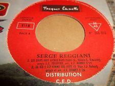 """Serge Reggiani – Les Loups Sont Entrés Dans Paris 7"""" EP EXCELLENT 1968"""