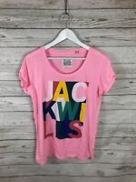 JACK WILLS T-Shirt - Size UK8 - Pink - Great Condition - Women's