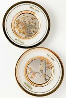"""Set of 2 """"Art of Chokin"""" 24K Gold Edge 4in. Collector Plates"""