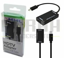 MHL ADAPTOR HDTV VIEW HD VIDEOS FROM MOBILE PHONE TO TV 11 PIN MICRO USB TO HDMI