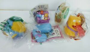 Taco Bell Kid's Toys Nacho and Dog 1995 Sealed Complete Set of 4 Plus Extra MIP