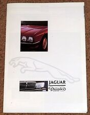 1987 JAGUAR Sales Brochure Poster - XJ40, XJS, XJR-6, Series III Double Six V12