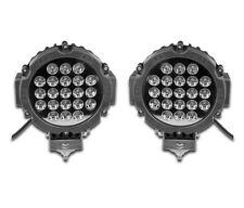 """2 x 24V 7"""" FRONT LED LIGHTS SPOT LAMPS LIGHTBAR ROOF RAIL TRUCK LORRY BULLBAR"""