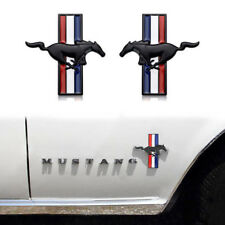 Metal Black Running Horse Pony Badge Emblem Door Fender Sticker For Ford Mustang