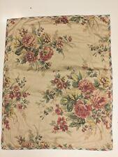 Chaps Ralph Lauren Standard Pillow Sham Floral & Tan, Plaid design, Pink Roses