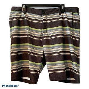 Billabong Men's Board Shorts Size 38 EUC Platinum X Quad Stretch Stripes
