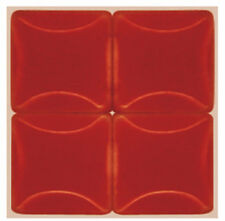 50 - 3/8 inch CHILI RED Ceramic Mosaic Tiles