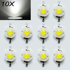 10pcs 1W 3V High Power White Neutral LED Small Beads Lamp DIY Diodes 80-90 LM