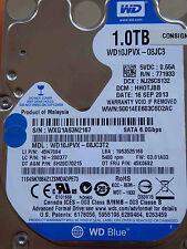 Western Digital WD 10 JPVX - 08jc3t2 DCM: HH 0 TJBB | 16 SEP 2013 | 1 TB hard drive