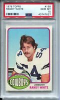 1976 Topps Football #158 Randy White Rookie Card Graded PSA Gem Mint 10 Cowboys