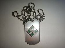 US 4th INFANTRY DIVISION Insignia Dog Tag + Ball Chain *Unused*