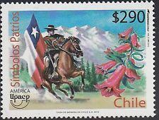Upaep Chile 1961 2010 Símbolos Patrios caballo horse MNH