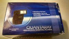 New Quantaray QB-6550U Digital Flash AF or manual Quantaray flash QB6550U