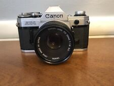 Canon Ae-1 35mm Slr Film Camera & Fd 50 mm 1.8 Sc lens Filter Tested! Warranty!