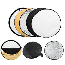 60cm 24'' Round 5 in 1 Photography Studio Photo Disc Collapsible Light Reflector