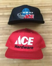 Lot 2 Vintage Ace Hardware Store Snapback Hats Caps Tools