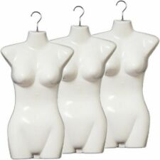 Mn-011 3pcs White Female Hanging Torso Form Mannequin With Metal Swivel Hook