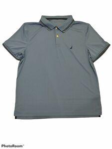 Nautica NavTech Performance Big Sailboat Logo Casual Golf Polo Shirt Size Large