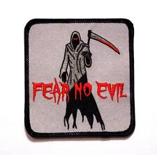 Fear No Evil Grim Reaper Darkness Blood Death Embroidered Patch Iron Sew BSP0729