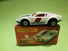 MATCHBOX 8 - DE TOMASO PANTERA  - IN NEAR MINT CONDITION  -  IN ORGINAL  BOX