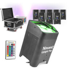 8x Portable Par LED Uplighter Battery Powered Wireless DMX Inc Charging Case
