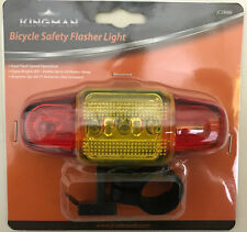 Bicycle Safety Flasher Light-Super Bright LED-Dual Flash Speed Operation