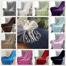 Monogramned Blanket Personalized Throw 50x60 Embroidered Name Initials Sorority