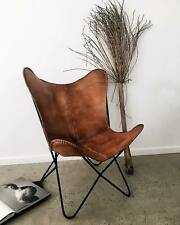Handmade Vintage Classic Buffalo Leather Butterfly Chair Relax Arm chair BKF Ten