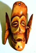 Afrikanische Maske,Beinschnitzerei,Amulett,wohl 19.Jhdt.